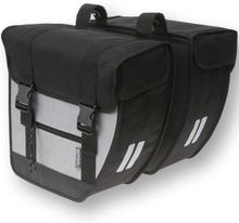 Basil Bicycle Bag Tour - Double Bag 26L Black/Silver