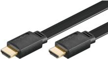 HDMI Ethernet (v1.4) Black Flat - 1m