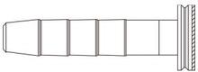 Oliv+ändstift till bromsslang - SM-BH59, 1-Pack