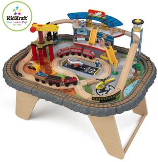 Kidkraft KidKraft - Tågbana - Transportation Station Train Set & Table