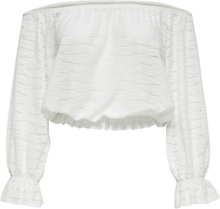 ONLY Off Shoulder 3/4 Sleeved Top Women White
