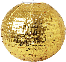 RICE - Round Lampshade with Sequins, Gold