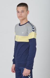 Hummel, BROOKLYN SWEATSHIRT, Blå, Gensere/Cardigans för Gutt, 164 cm