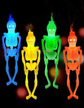 1 STÜCK Halloween LED Scary Lichterketten Skelettförmige Girlande Batterie Angetrieben Indoor Outdoor Dekorativ Für Part