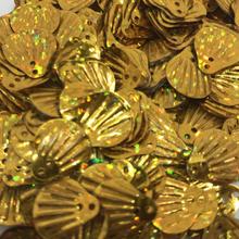 Muslingeskaller palietter guld