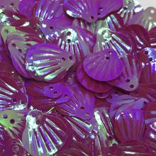 Muslingeskaller palietter mørke lilla