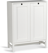 Mavis - Falsterbo Cabinet Covered Doors 90 cm, White Lacquer