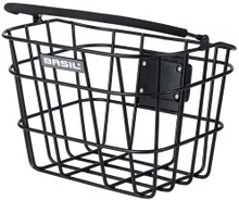 Basil Basket Front Bremen - ALU BE/KF Matt Black