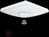 LED-taklampa Slim Quad 13 W med sensor