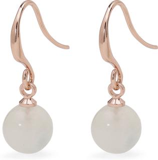 Pilgrim - Rina Earrings, Rose Gold/Green