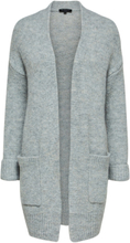 SELECTED Wool Mix - Knitted Cardigan Women Grey