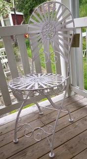 Trädgårdsstol målat järn