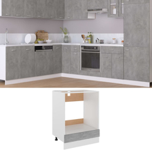 vidaXL Ovnskap betonggrå 60x46x81,5 cm sponplate
