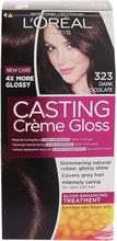 Köp L'Oréal Paris Casting Crème Gloss 323 Dark Chocolate, Dark Chocolate L'Oréal Paris Färg fraktfritt