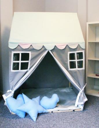 Namiot Domek do zabawy pastelove