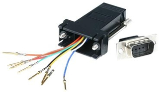 StarTech.com DB9 to RJ45 Modular Adapter - M/F - Serial adapter - DB-9 (M) to RJ-45 (F) - GC98MF - Seriell adapter - DB-9 (hane) till RJ-45 (hona) -