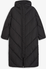 Long puffer coat - Black