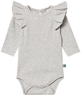 The BRAND Flounce Baby Body Grey Melange 56/62 cm
