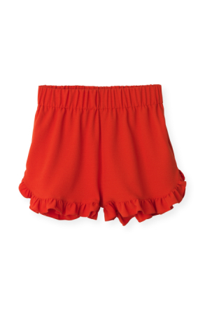 Ganni Clark Big Apple Red Shorts-40
