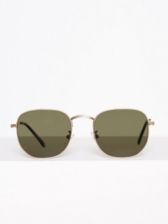 Topman Gold Hexagonal Sunglasses Aurinkolasit Gold