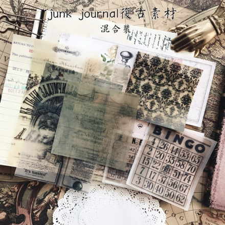 Vintage newspapers lace paper plant number old photo retro tag poster Decorative Stickers DIY junk journal Scrapbooking Escolar