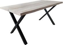 Torino - Plankebord egetræ hvidolieret 200 cm - Forberedt til tillægsplader