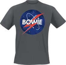 David Bowie - Amplified Collection - To The Moon -T-skjorte - koksgrå