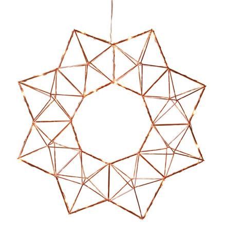 Edge Star Kobber Stjerne - Lampan