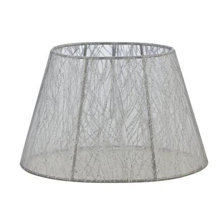 Skærm Oval Blonde 22 cm Sølv - Lampan