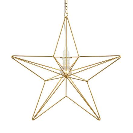 Tjusa Guld 42 cm Stjerne - Lampan