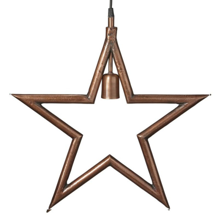 Metalstjerne Rå kobber 45cm - Lampan