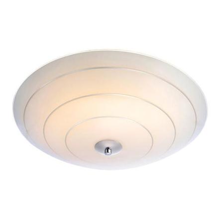 Lyon Hvid/Sølv LED/Dæmpbar 43 cm Plafond - Lampan