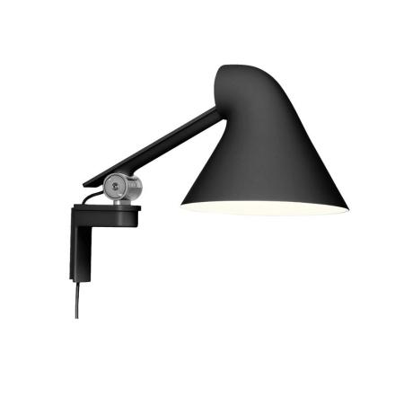 Njp Sort Kort Arm LED Væglampe - Lampan