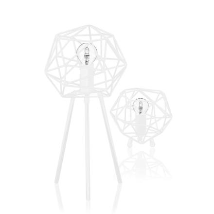 Diamond Hvid Bordlampe - Lampan
