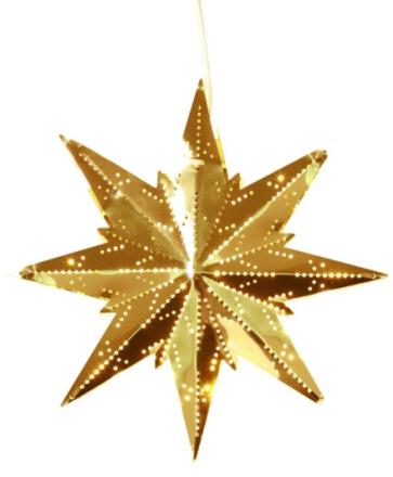 Stjerne Mini Messing 25cm
