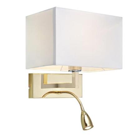 Savoy Messing/Hvid E27/LED Sengelampe - Lampan