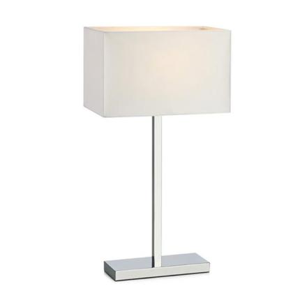 Savoy Krom/Hvid USB Bordlampe - Lampan