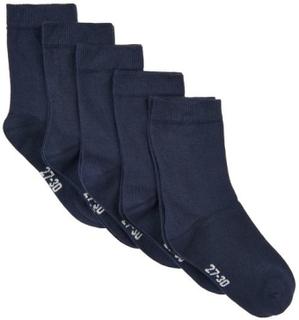 5 pack sokker til barn, marineblå