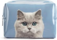 Catseye London Cat On Blue Large Makeup Bag