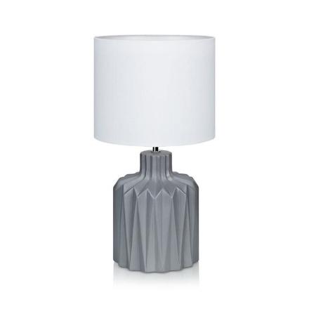 Benito Grå/Hvid Bordlampe - Lampan