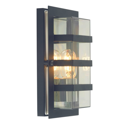 Boden Sort/Klar Ip54 Væglampe - Lampan