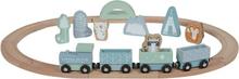 Little Dutch togbane til barn i tre, blå
