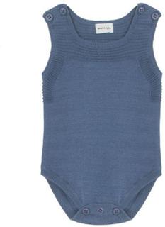Mini A Ture Cillian romper til baby, matt blå