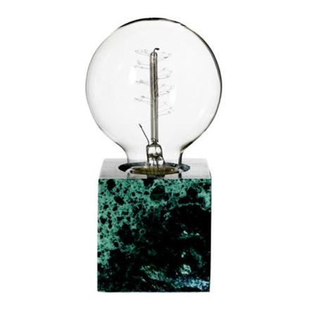 Tiny Grøn Marmor Bordlampe - Lampan