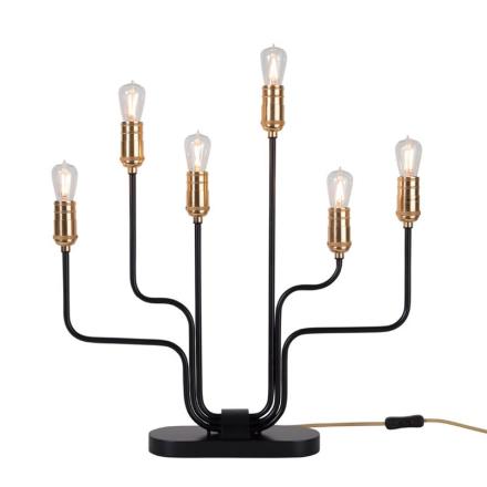 Fleming Messing/Sort Lysestage - Lampan