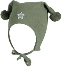 Kivat vårlue til barn med stjerne, olivengrønn