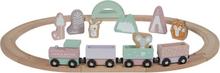 Little Dutch togbane til barn i tre, rosa