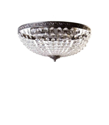 Edward Sølv 45 cm Plafond - Lampan