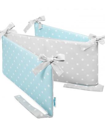 Ochraniacz do łóżeczka Lovely Dots Mint & Grey