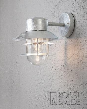 Modena Grill Galv Ned Ude Væglampe - Lampan